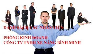 Nhân viên xe nâng Bình Minh, kinh doanh xe nâng HELI